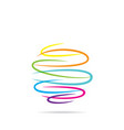 abstract round shape symbol design vector image