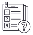 exam line icon sign on vector image