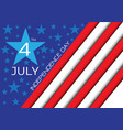 4th july independence day of the usa holiday vector image