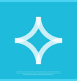 abstract logo mark simple minimalist vector image vector image