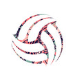abstract volleyball tribal symbol vector image vector image