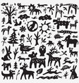 animals doodles vector image vector image
