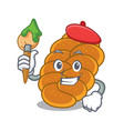 artist challah character cartoon style vector image vector image