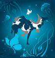 background with animals abstraction vector image vector image