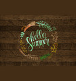 background with text - hello summer vector image vector image