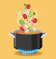 boiled soup recipe image vector image vector image