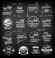 burgers set icons menu vector image