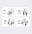 business promotion isometric landing page