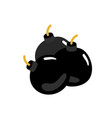 cannonball isolated icon in flat design vector image vector image
