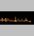 charleston light streak skyline vector image