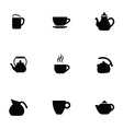 coffee tea 9 icons set vector image vector image