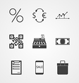 Contour icons for internet moneymaking vector image