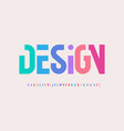 creative alphabet rainbow colors modern vector image vector image