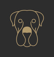 Cute Dog Logo vector image vector image