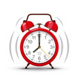 eight clock morning ringing red alarm clock vector image vector image