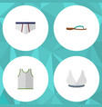 flat icon dress set of beach sandal underclothes vector image vector image