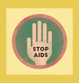 flat shading style icon stop aids symbol vector image vector image