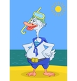 Goose diver on a seacoast vector image vector image