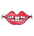 Happy mouth with teeth design icon