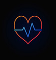 heartbeat colored icon in minimal outline vector image vector image