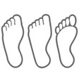 human foot thin line icons vector image vector image