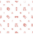 icon icons pattern seamless white background vector image vector image
