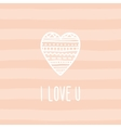 Love card template vector image