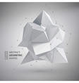 Low polygon geometry shape vector image vector image