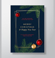 merry christmas abstract greeting card vector image vector image