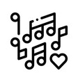 music notes wedding dance thin line icon vector image vector image