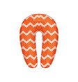 orange neck pillow on a white vector image