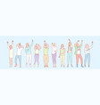 party animals set concept vector image vector image