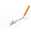 pencil and words vector image vector image