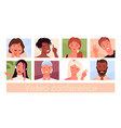 people avatars for video conference and social vector image vector image