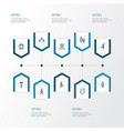 people outline icons set collection of smart man vector image vector image