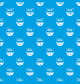 pizza badge or signboard pattern seamless blue vector image vector image