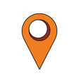 pointer map location symbol vector image vector image