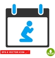 Pray Person Calendar Day Eps Icon vector image vector image