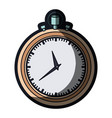 realistic color graphic of stopwatch with thick vector image vector image