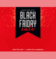 red background with black ribbon black friday vector image