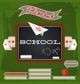 retro school concept vector image