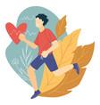 running for cardiac health cardio training vector image