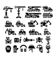 Set icons of construction equipment vector image vector image