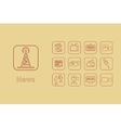 Set of news simple icons vector image