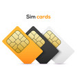 sim card mobile phone icon chip simcard vector image vector image