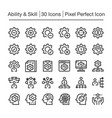 skillability line icon vector image vector image