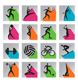 Sport colorful icons vector image vector image