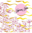 spring sakura and magnolia background vector image vector image