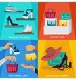 Square Fashion Accessories Icon Set vector image vector image