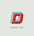 stunning letter d with 3d color contour
